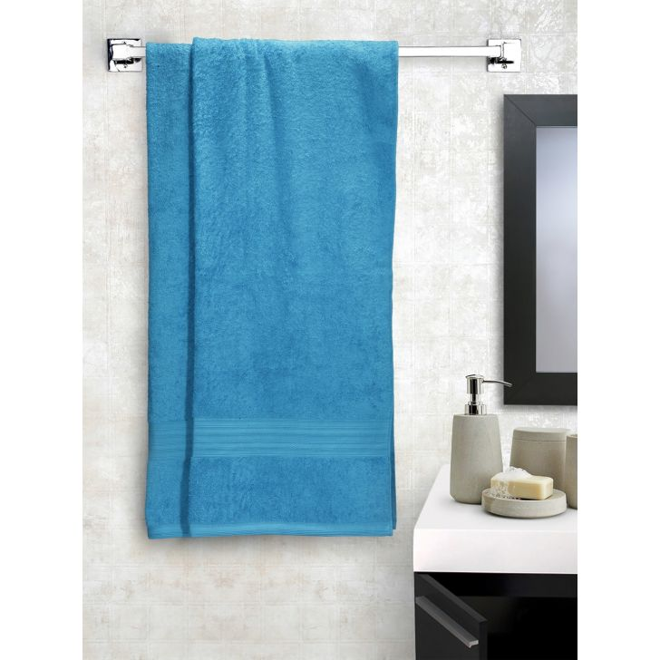 Portico New York Eva Bath Towel 150 cms x 75 cms in Saphire Blue Color by Portico