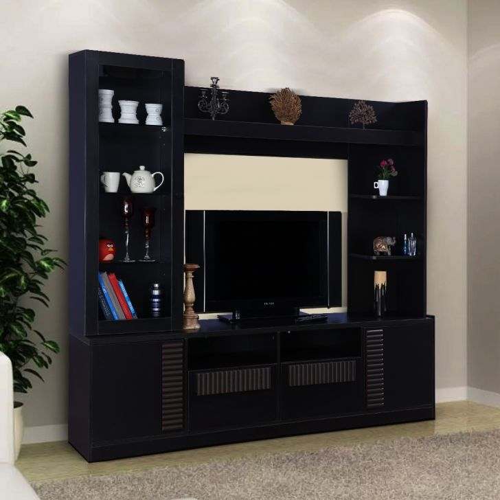 Tiago Engineered Wood TV Unit in Wenge Colour by HomeTown
