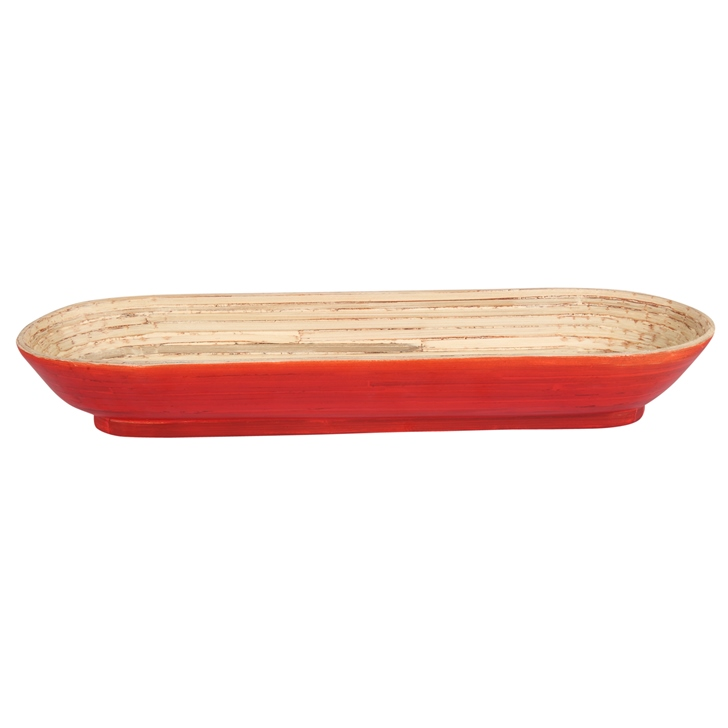 Living Essence Bamboo Tray Red