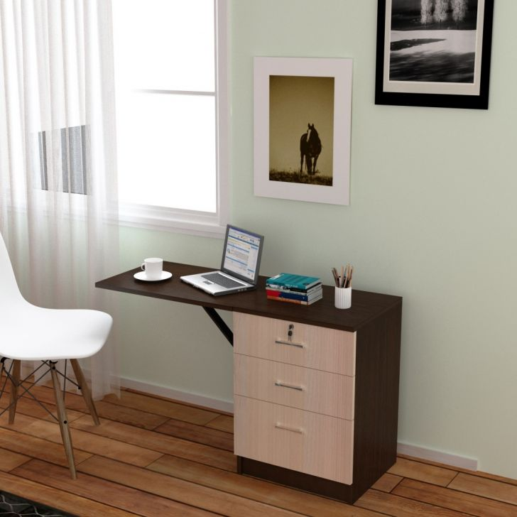Palencia Engineered Wood Study Desk in African Oak Colour by Hoffice