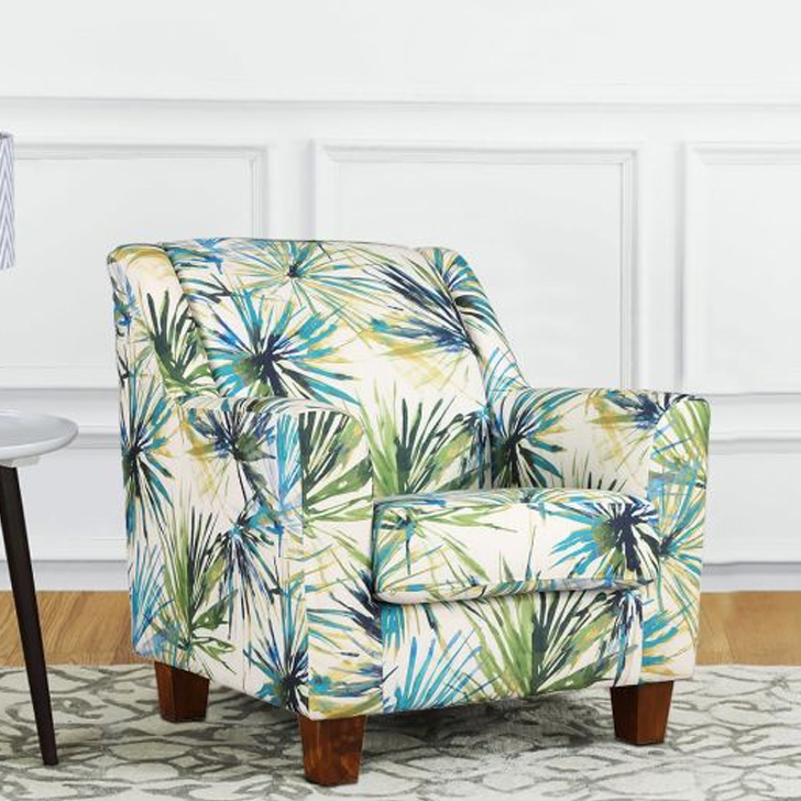 Rotterdam Fabric Arm Chair in Print Colour by HomeTown