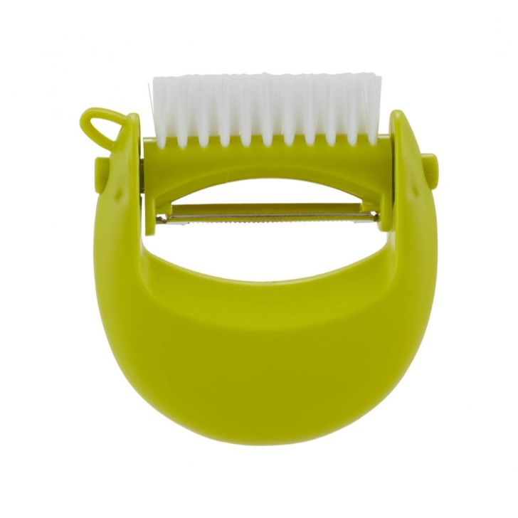 Kitchen Aid Peeler With Brush Plastic Kitchen Tools in Green Colour by Living Essence