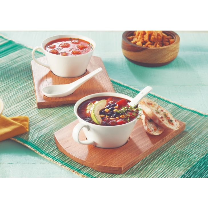 Tex Mex Soup Set Serving Sets in Natural Wood Colour by Songbird