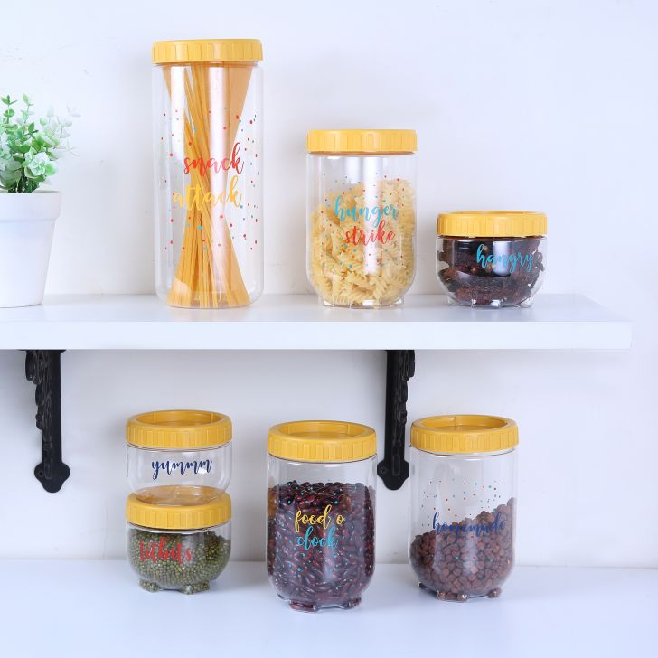 Fiesta Milan Stack & Store Container Set of 7 in Transparent Colour