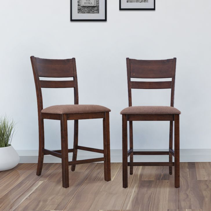 Hopton Solid Wood Dining Chair Set Of Two in Walnut Colour by HomeTown
