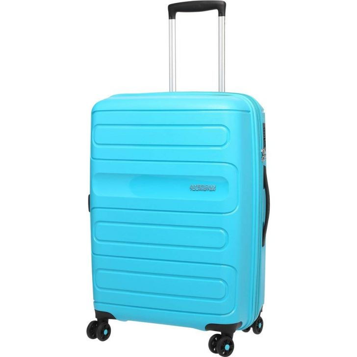 Sunside 55 cm Polycarbonate Hard Trolley in Blue Colour by AMERICAN TOURISTER