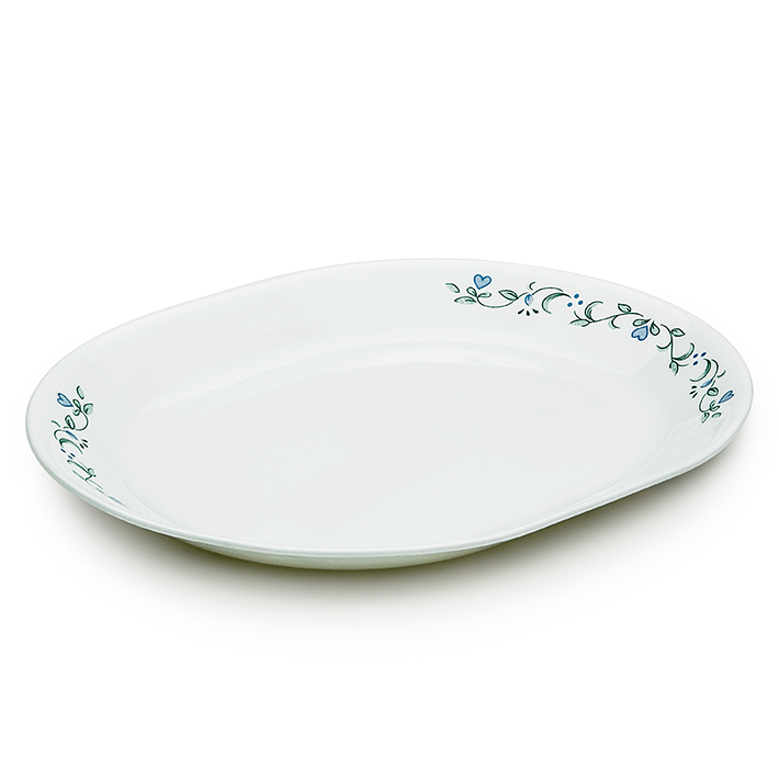 Corelle Country Cottage Serving Platter Glass Platters in White Colour by Corelle