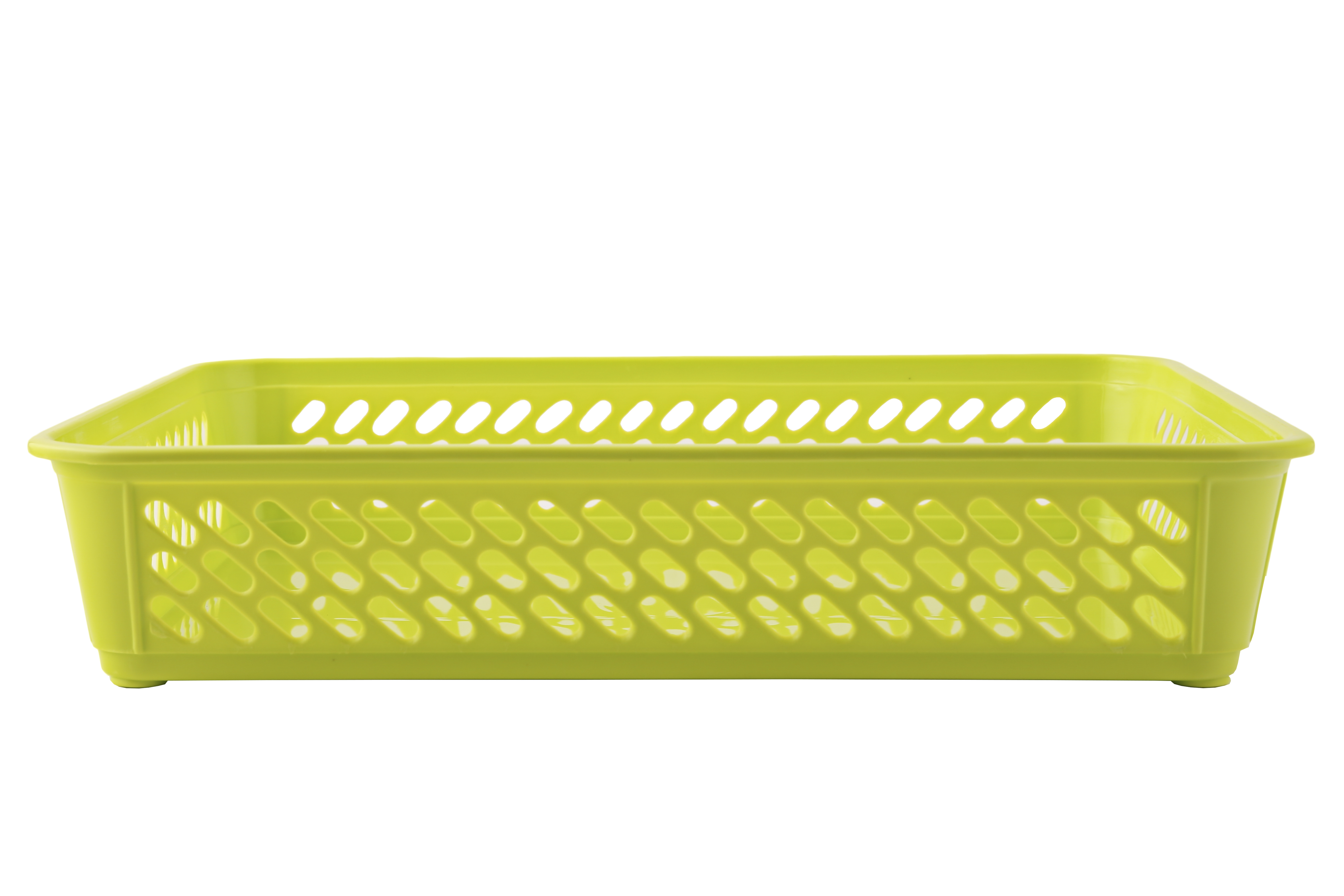Sieve Multi Purpose Basket Green Plastic Kitchen Storage in Green Colour by Living Essence