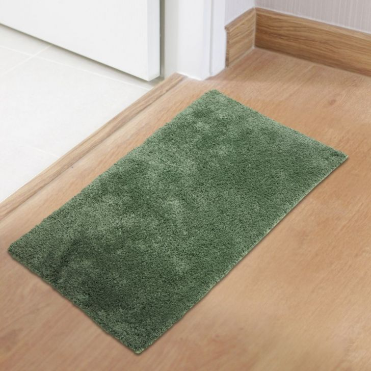 Spaces Polyester Bath Mat in Marret Green Colour by Spaces