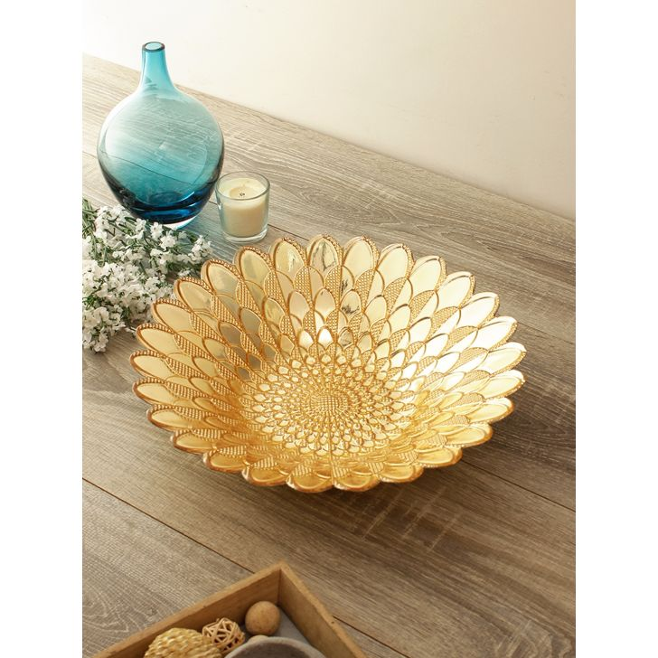 Jordan Leaf Glass Platter Glass Table D