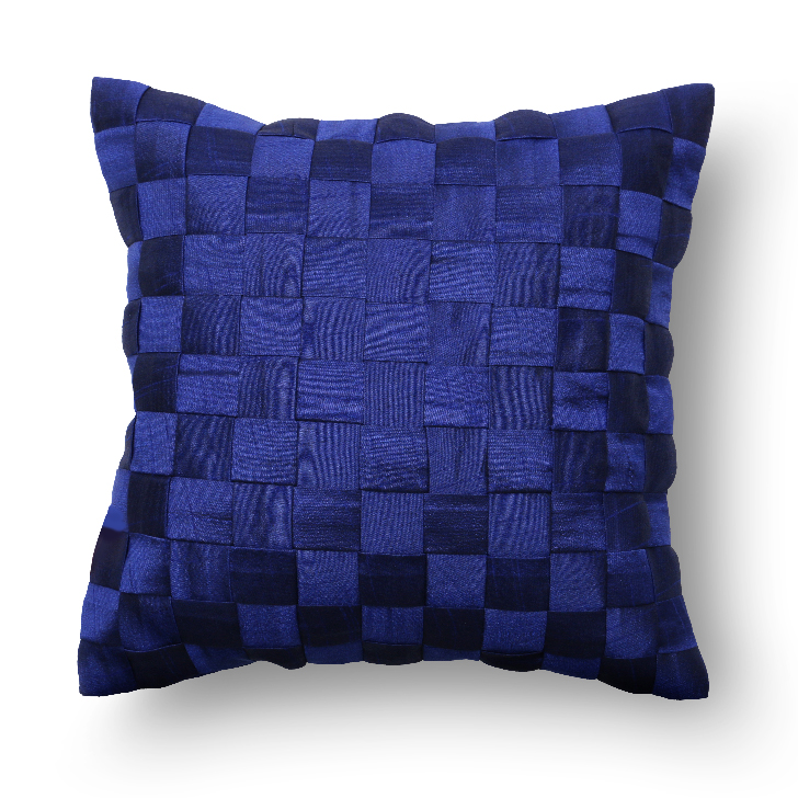 Zara Polyester Cushion Cover Navy Blue Polyester Cushion Covers by Living Essence