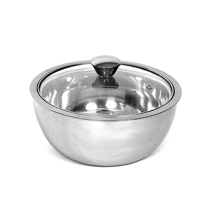 Living Essence Glass Casseroles in Silver Colour by Servewell