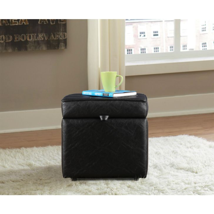 Jose Ottoman in Black Color by HomeTown