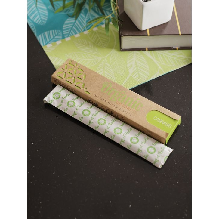 Organic Goodness Aroma Sticks in Cannabis by Song Of India