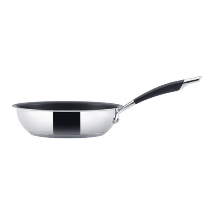 Circulon Momentum 25cm Frypan (Non stick+Stainless Steel , Induction Suitable) Stainless steel Sauce Pans in Stainless Steel Colour by Living Essence