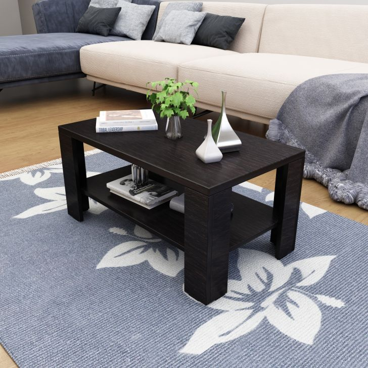 Rene Engineered Wood Center Table in Wenge Colour