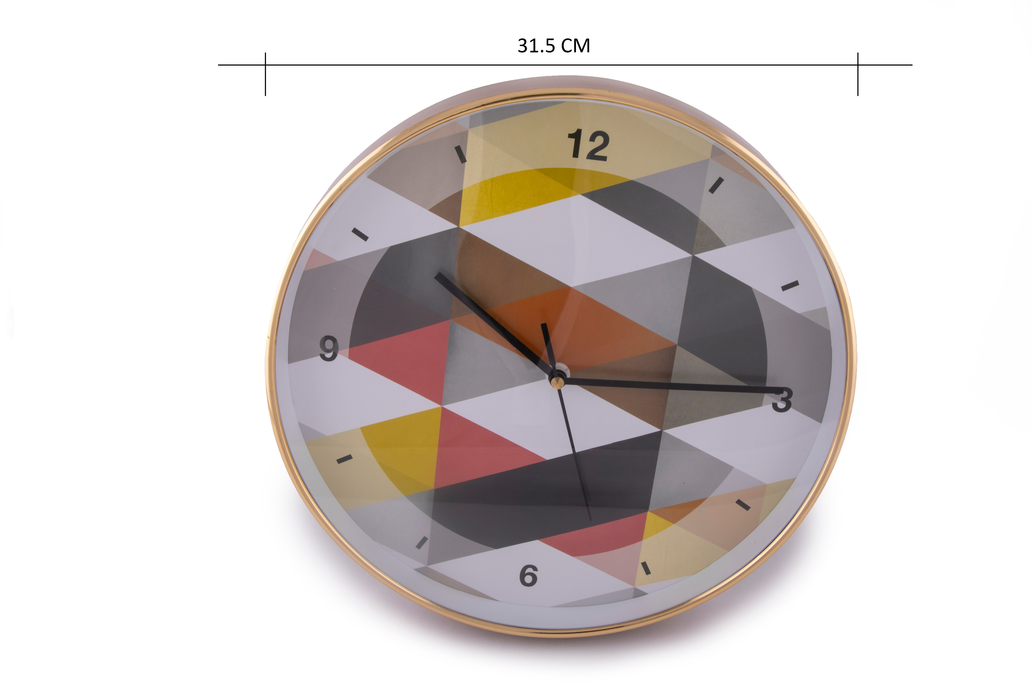 Living Essnce Aika Urbane Triangle Clock Modern Clocks in Multi Color Colour by HomeTown