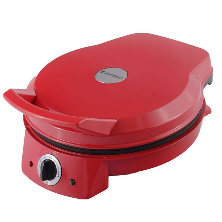 WONDERCHEF PIZZA ITALIA Aluminium Toasters & Sandwich Makers in Steel Color Colour by Wonderchef