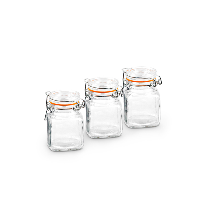Glass Kitchen Organizers by Living Essence