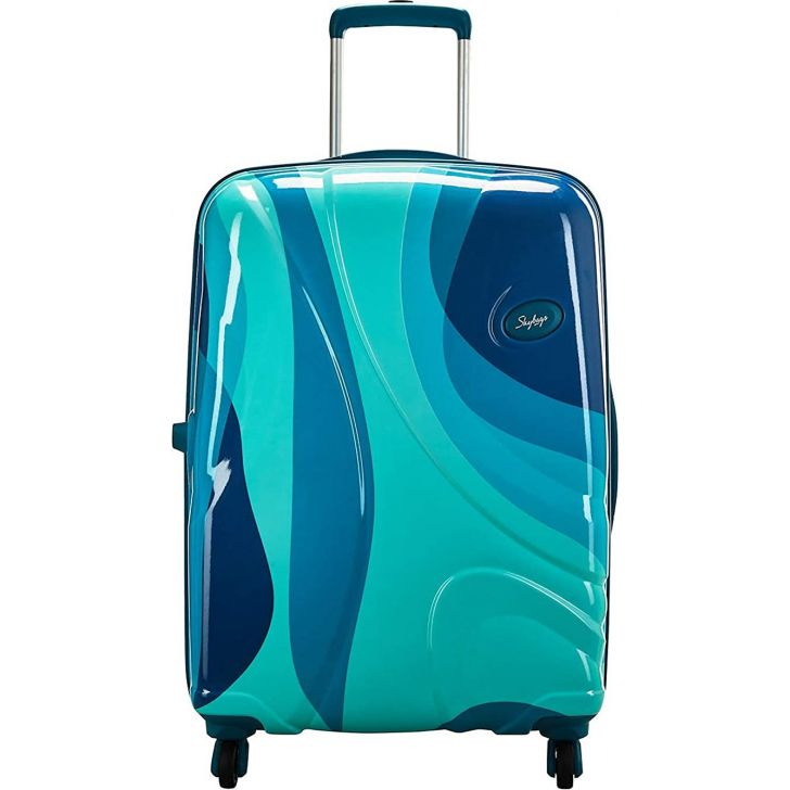 Rio 79 cm Polycarbonate Hard Trolley in Blue Colour by SKYBAGS