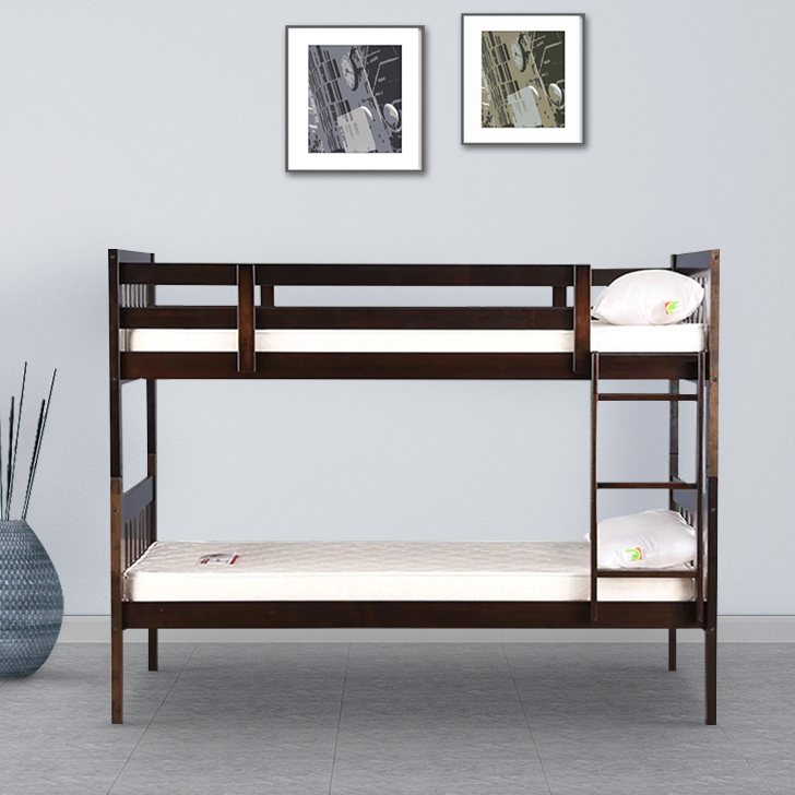 Lydia Solid Wood Bunk Bed in Cappuccino Colour by HomeTown