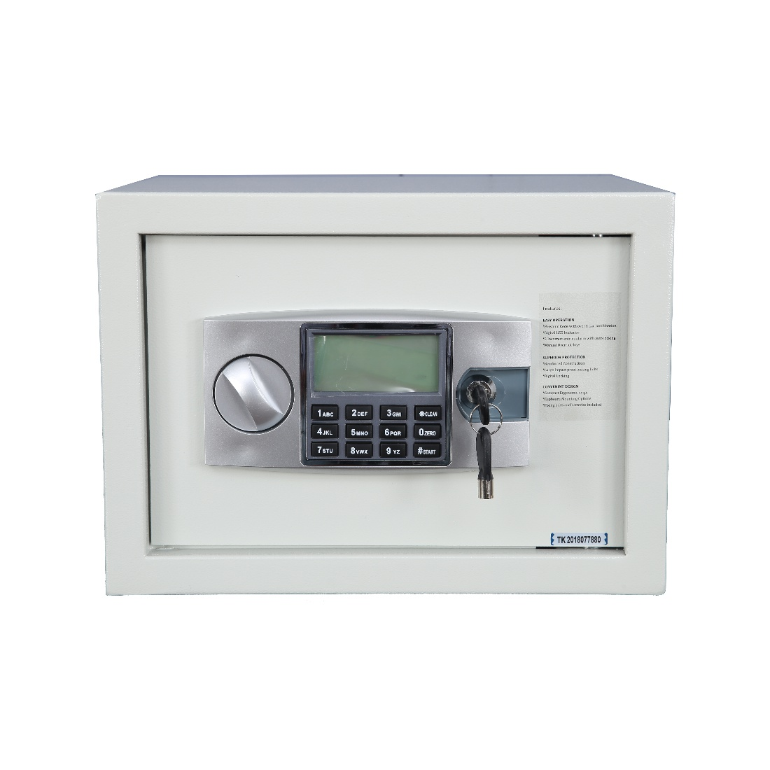 Armor Mild Steel Safe in light grey Colour by HomeTown