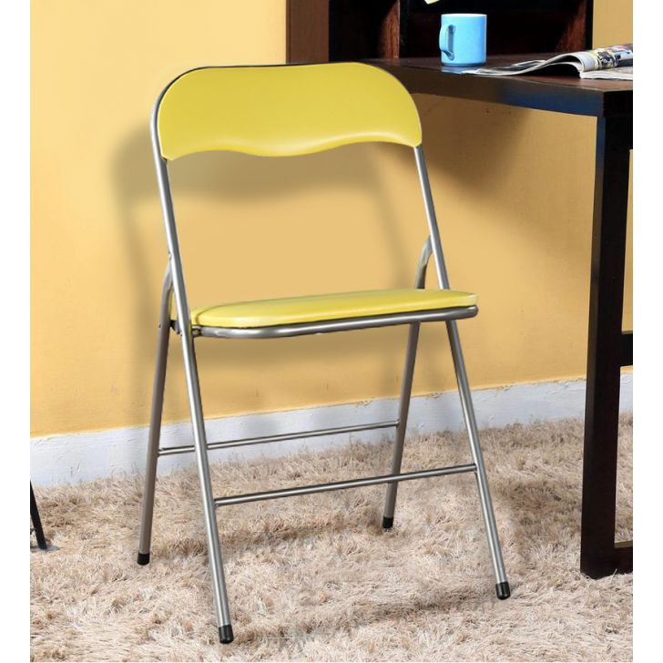 Enzo Metal Outdoor Chair in Citron Colour by HomeTown