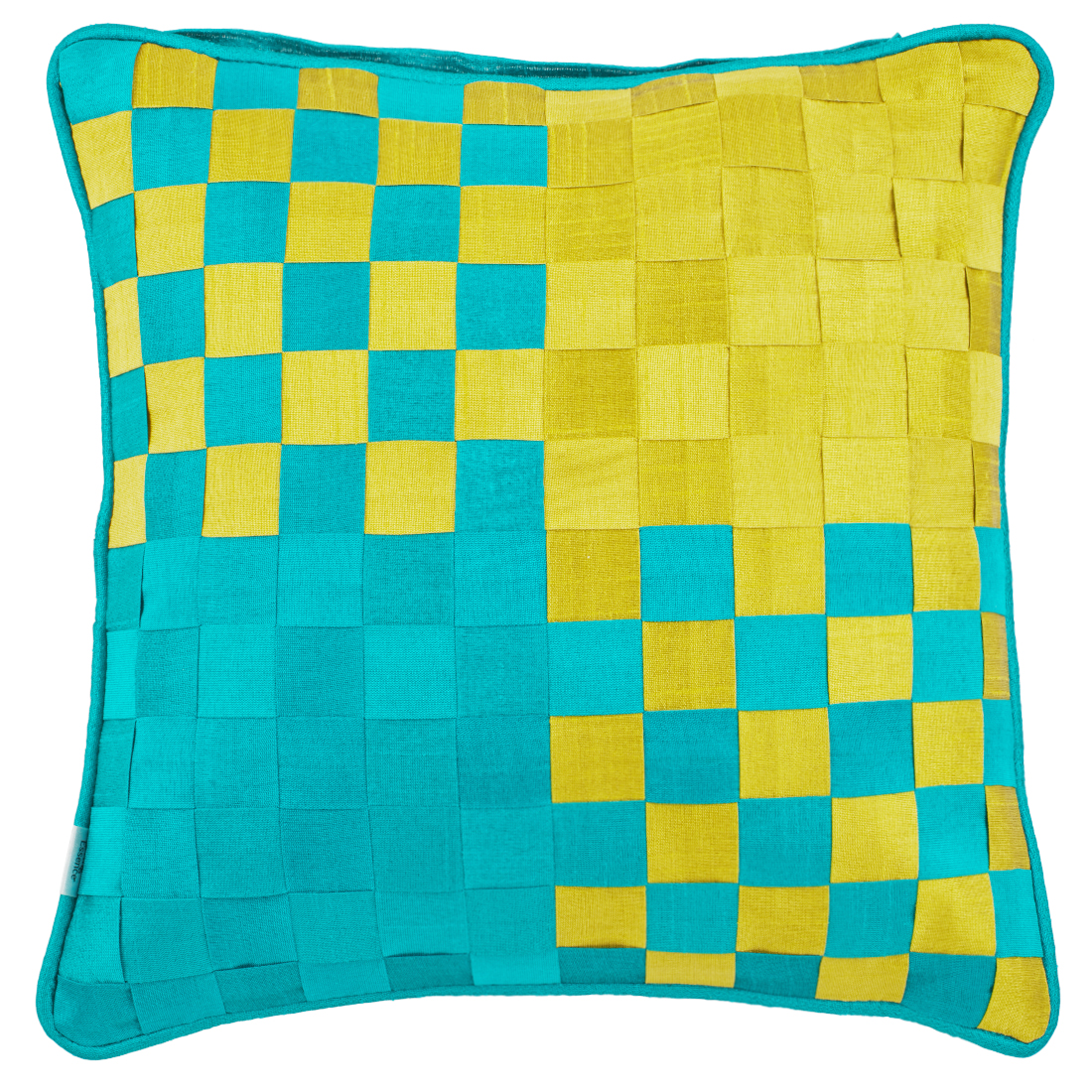 Basket Polyester Cushion Covers in Citron Colour by Living Essence