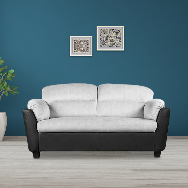 Felix Fabric Two Seater Sofa in Grey Colour by HomeTown