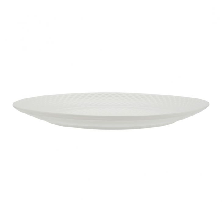 Ripple Dinner Plate Ceramic Plates in White Colour by Living Essence