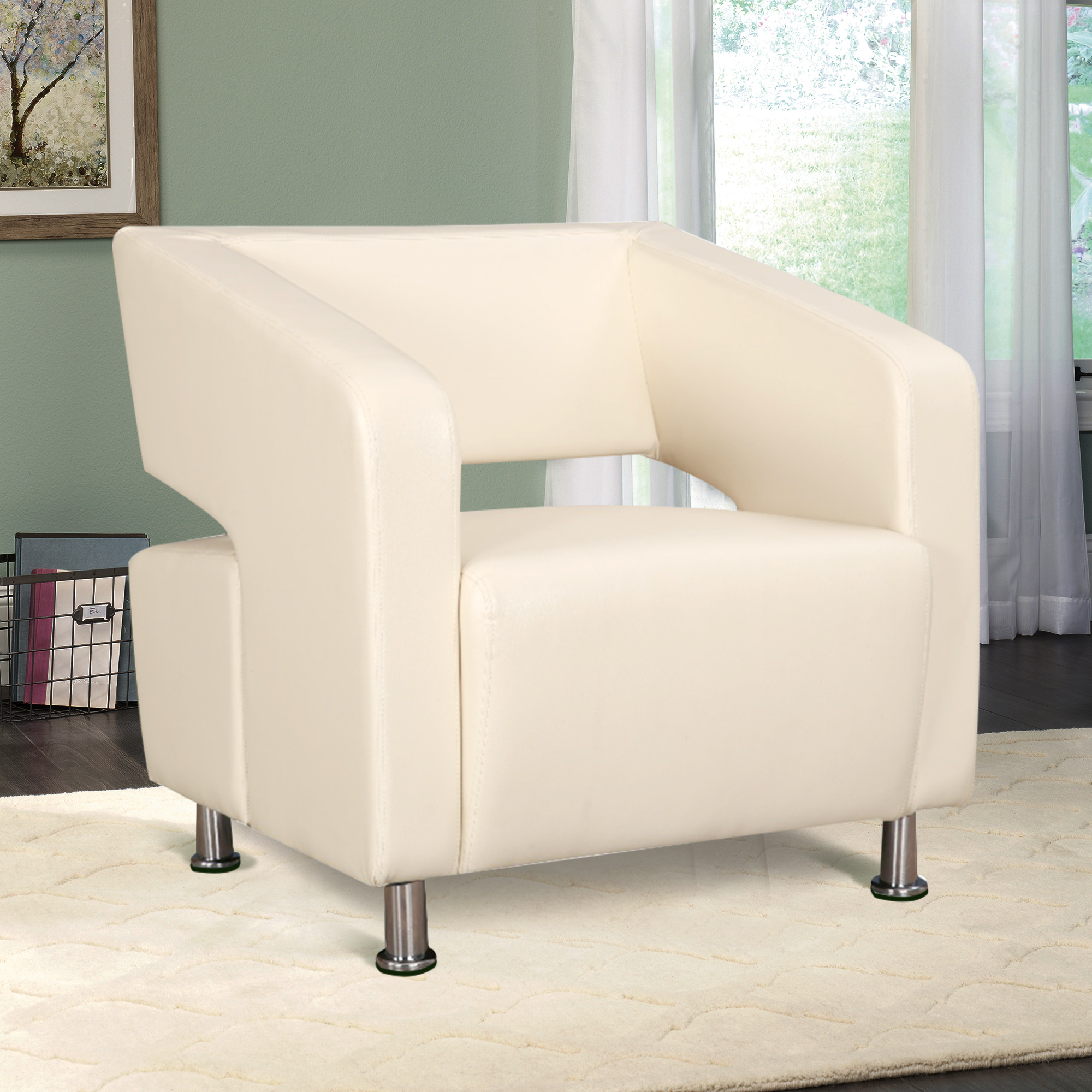 Arrow PVC Visitor Bench in Beige Colour by HomeTown