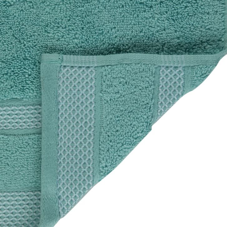Spaces Core Cotton Double Bed Sheets in Aqua Colour by Spaces