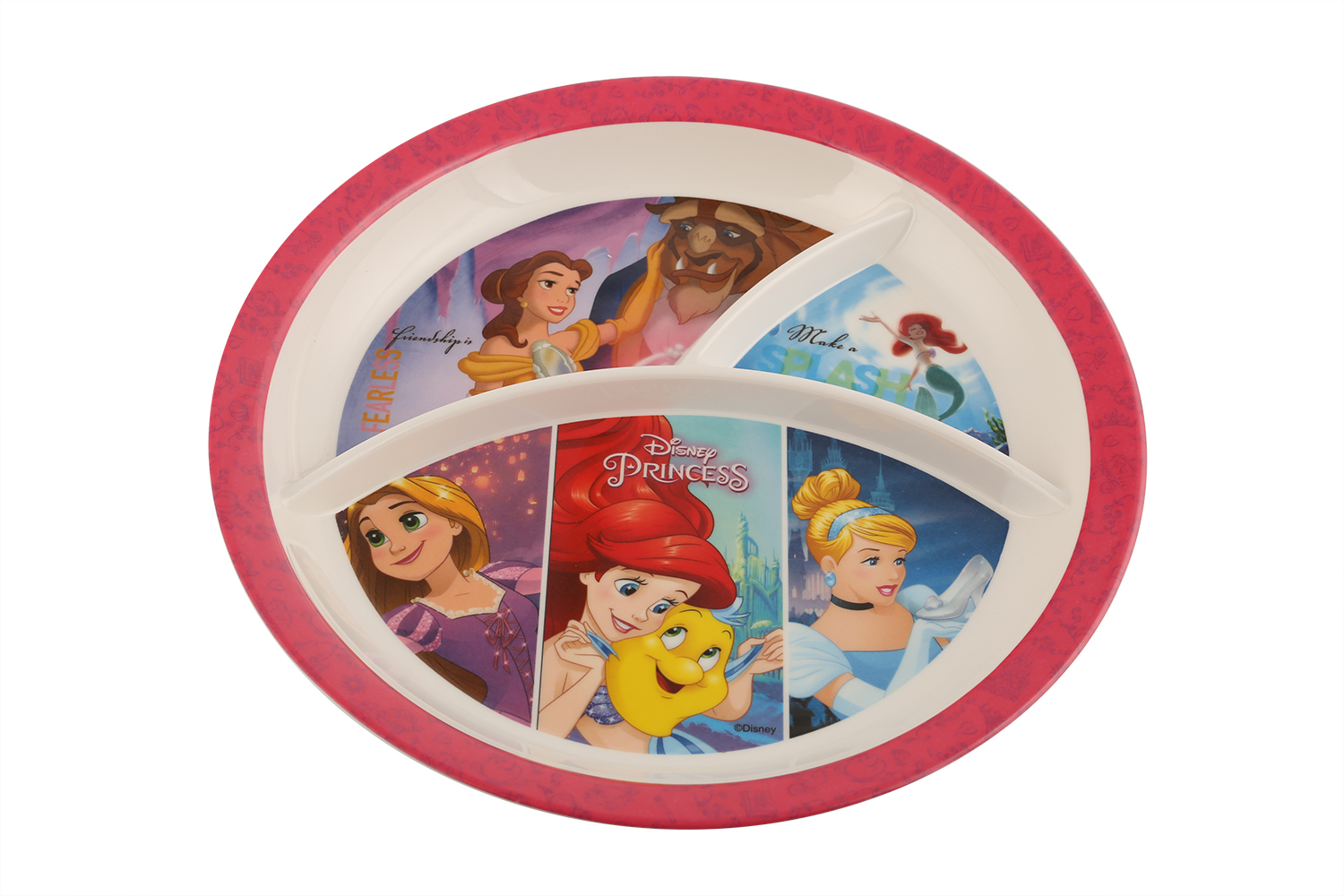 Buy Sw 3partition Round Plate Disney Princess Plates In