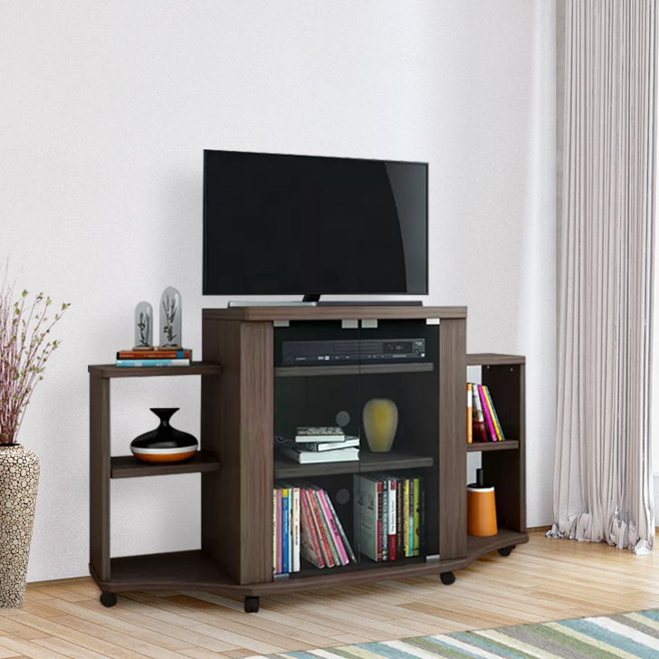Best Buy Home Furnishings: Buy Pacific Engineered Wood TV Unit In Walnut Colour By