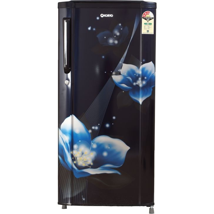 KDR215MR3F Steel Refrigerator in Blue Colour by Koryo