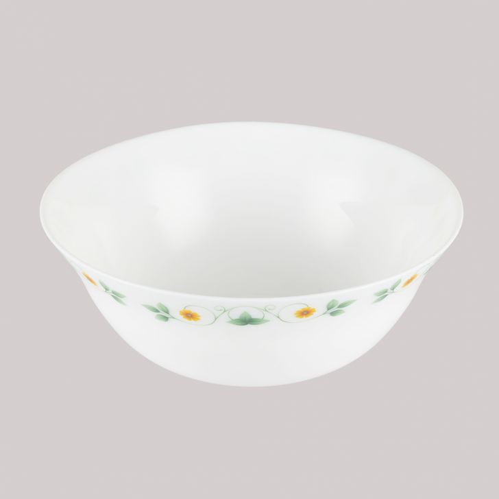 Diva Ivory Serving Bowl Amber Willow Glass Serving Bowls in White Colour by Diva