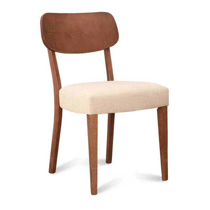 Madison Solid Wood Dining Chair Set of Two in Beech Wood Colour by HomeTown