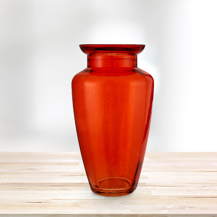 Marvela Colored Glass Vase Rust Glass Vases in Rust Colour by Living Essence