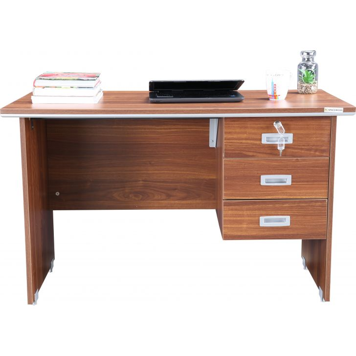 Integra Engineered Wood 4 Feet Table Office Table in Wenge Colour