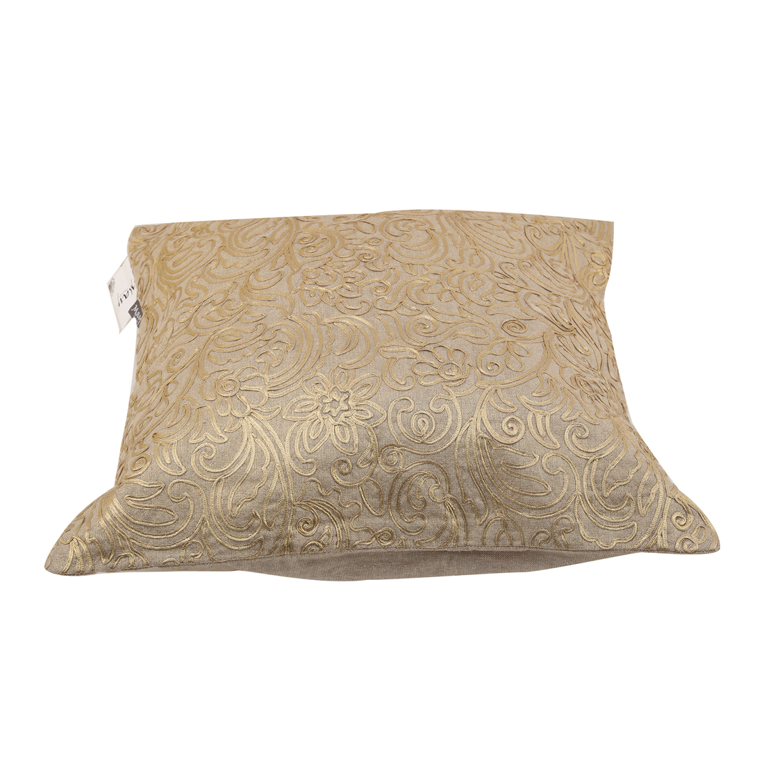 Andrea Beige Gold Cotton Cushion Covers in Beige Gold Colour by Living Essence
