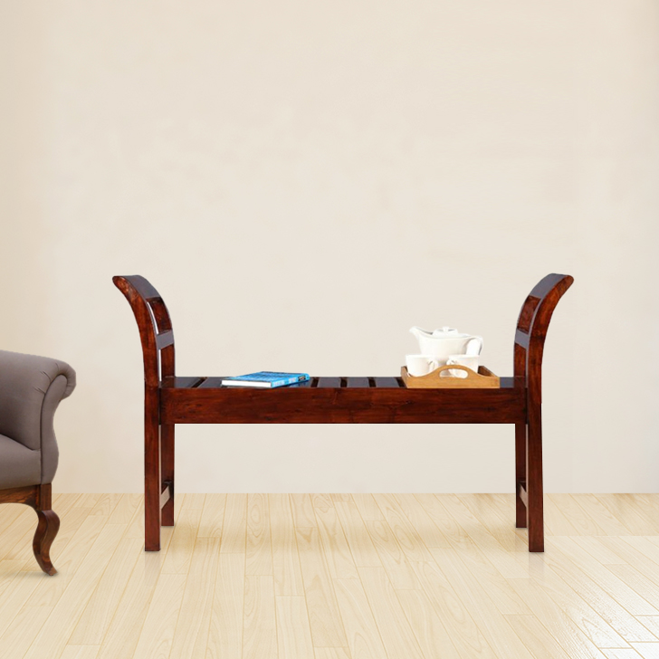 Adora Solid Wood Bench in Chest Nut Colour by HomeTown