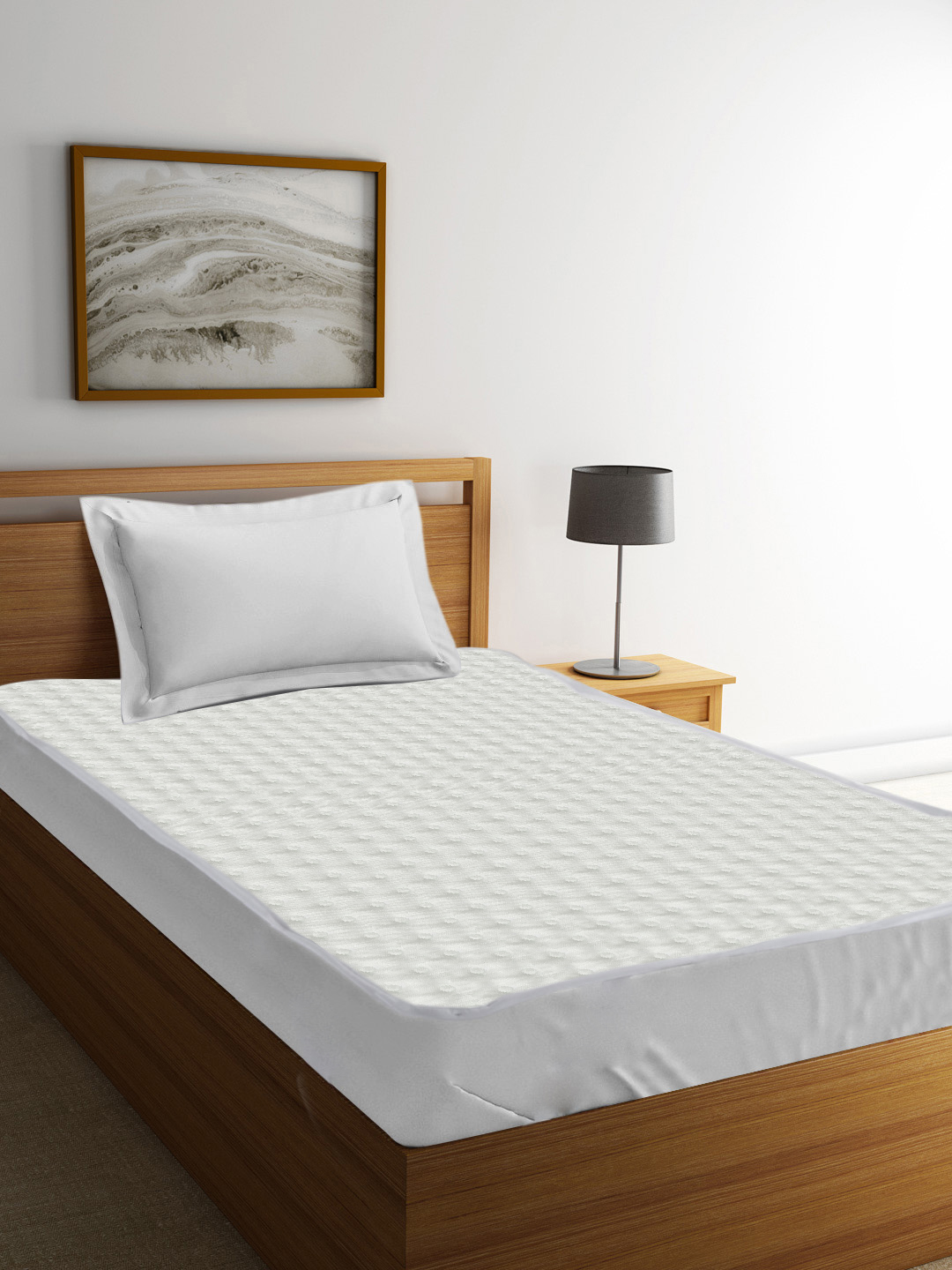 Mattress Protectors in White Colour by Tangerine