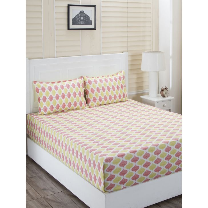 Maspar Cotton Bedsheet in Red Colour by HomeTown