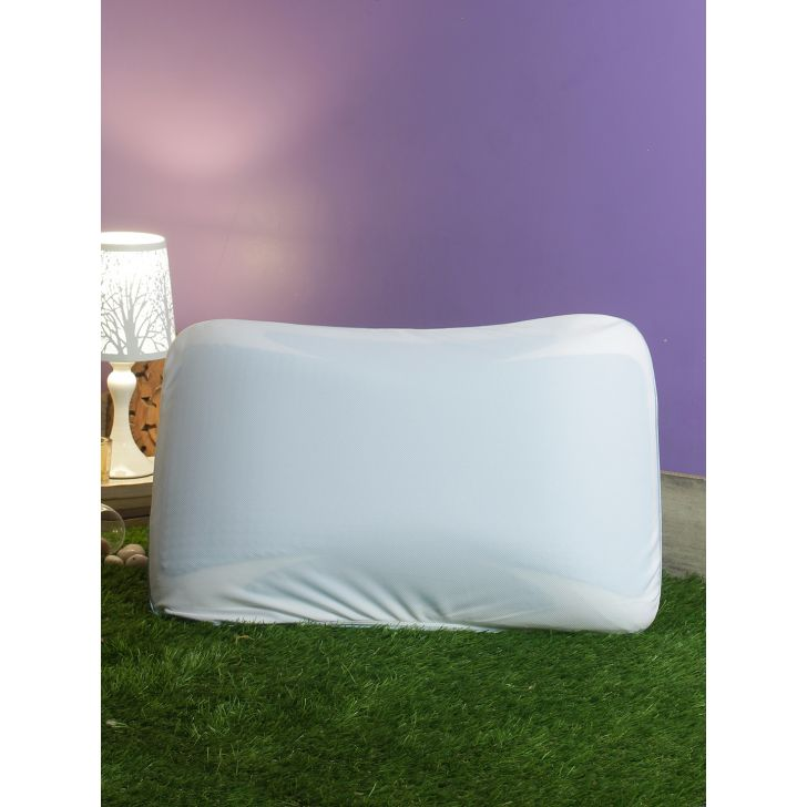 Contora Gel Memory Foam Memory Foam Pillows in White Colour by Living Essence