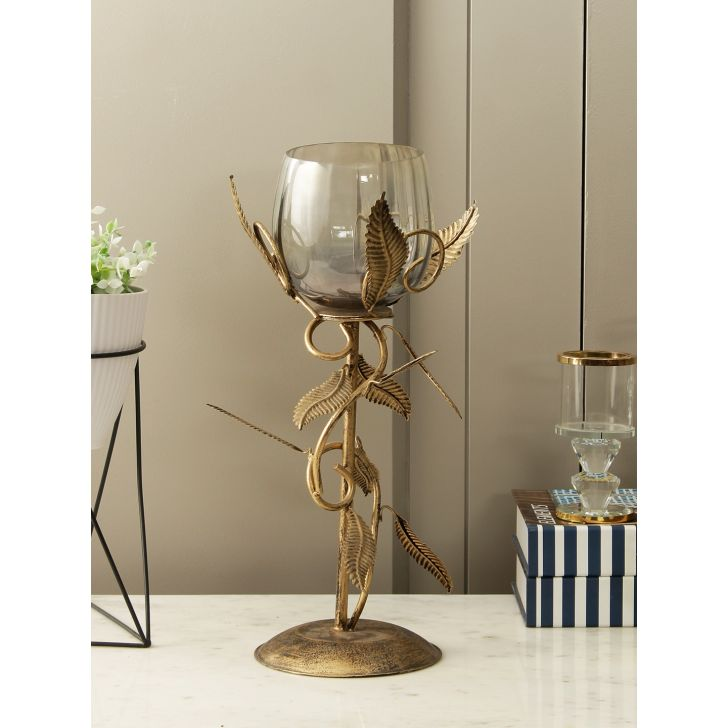 Divine Metal Accent in Grey Gold Colour by HomeTown