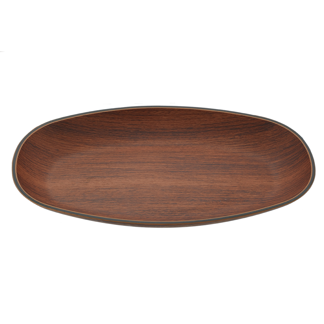 Oak Medium Serving Plate Plastic Platters in Brown Colour by Living Essence