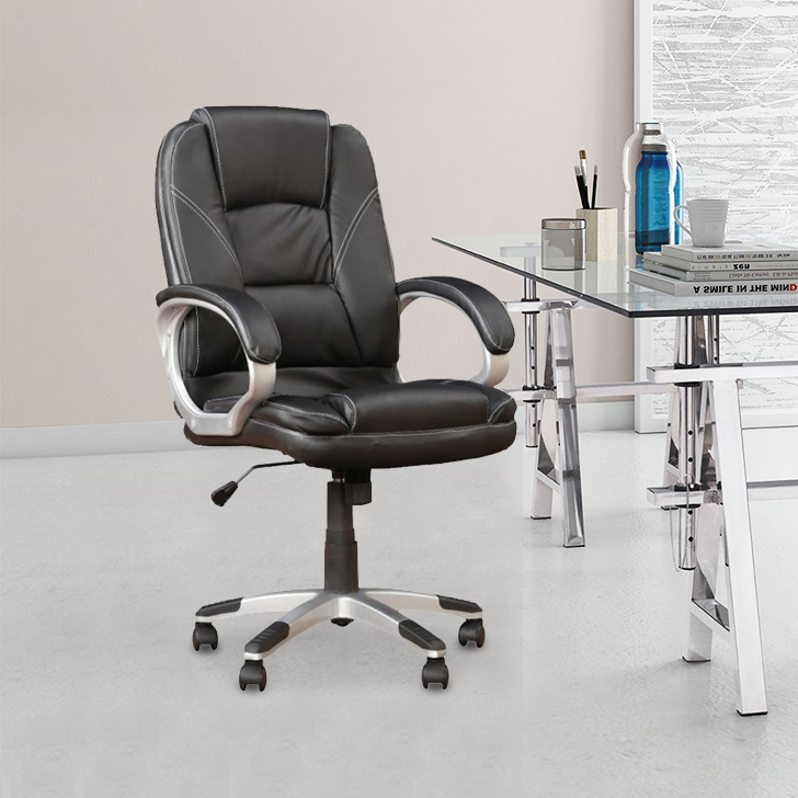 Emperor Fabric Office Chair in Black Colour by HomeTown