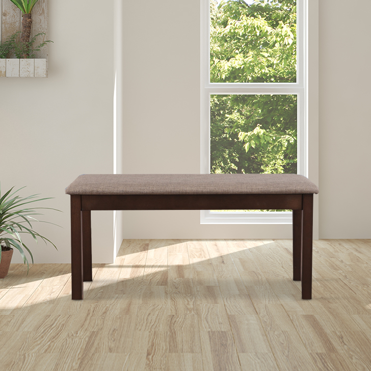 Delton Solid Wood Six Seater Dining Bench in Brown Colour by HomeTown
