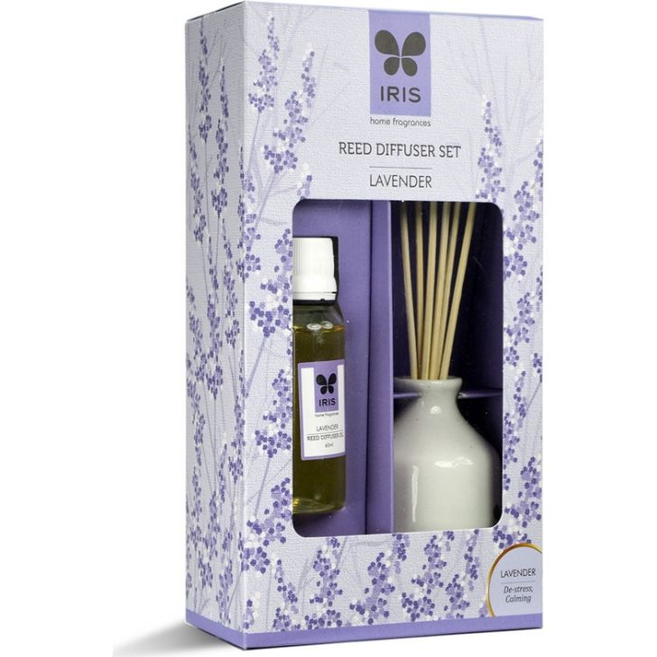 Reed Diffuser Set Ceramic With Reeds in Lavender Colour