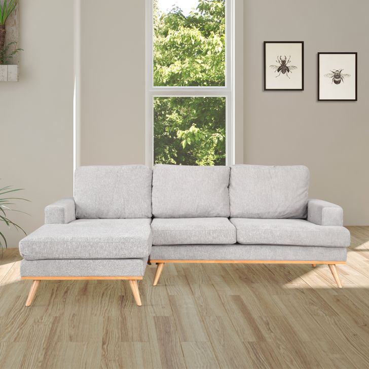 Wilfred Solid Wood Lounger in Grey Colour by HomeTown